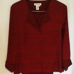 Coldwater Creek 2 pcs Burgundy Set Sz L